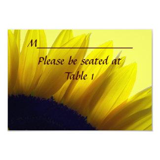 Girasol personalizado casando el lugar del invitación 8,9 x 12,7 cm