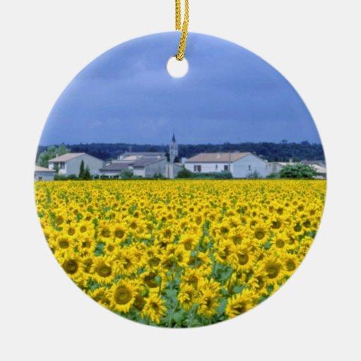 girasoles amarillos, flores de Francia Ornamento De Reyes Magos