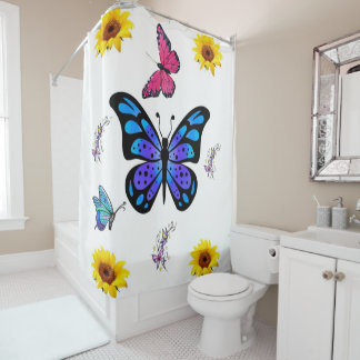 Girasoles de la cortina de ducha