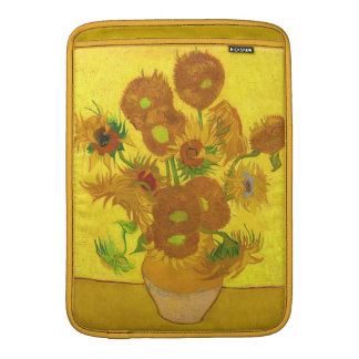 Girasoles de Van Gogh quince en una bella arte del Funda Para Macbook Air