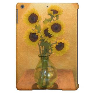 Girasoles en florero en el cuadro 2 funda para iPad air