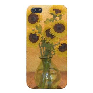 Girasoles en florero en el cuadro 2 iPhone 5 carcasas