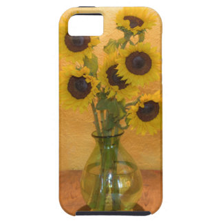 Girasoles en florero en el cuadro 2 iPhone 5 coberturas