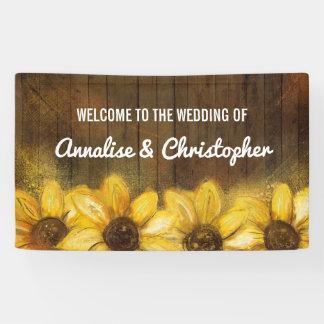 Girasoles en la recepción de madera el | al boda