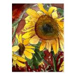girasoles que pintan los regalos del arte postal