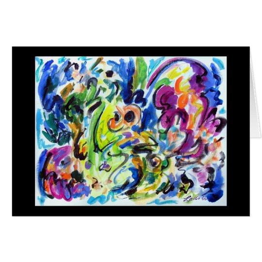 Giro abstracto del color tarjeta de felicitación