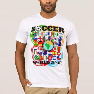Giro del color de la camiseta del blanco de los