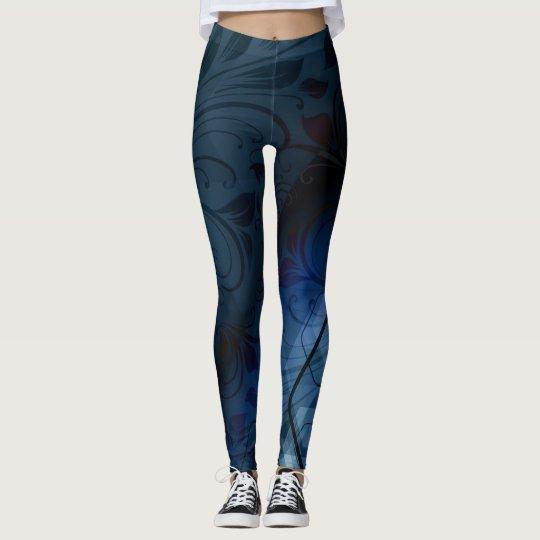 Giro y hexágonos ciánicos leggings