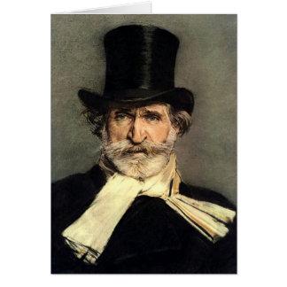 Giuseppe Verdi - maestro de la ópera italiana Tarjeta De Felicitación