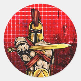 Gladiador Pegatina Redonda