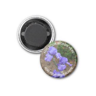 Gladiolo púrpura: Imán personalizado