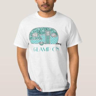 Glamp en la turquesa camisetas