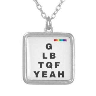 ¡GLBTQF sí! Collar Plateado