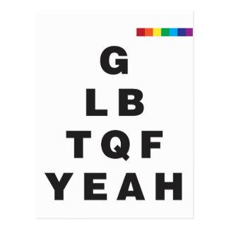 ¡GLBTQF sí! Postal