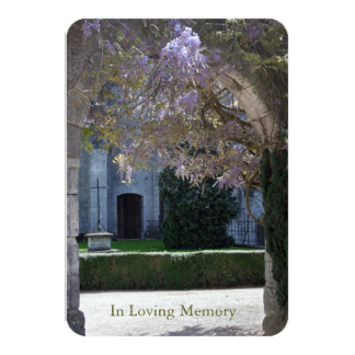 Glicinias 1 - Invitación fúnebre cristiana