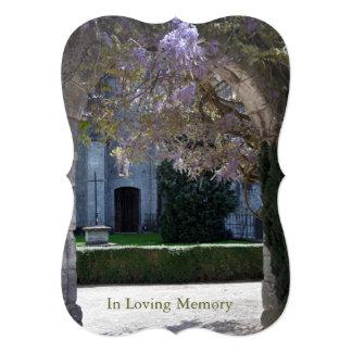 Glicinias 2 - Invitación fúnebre cristiana