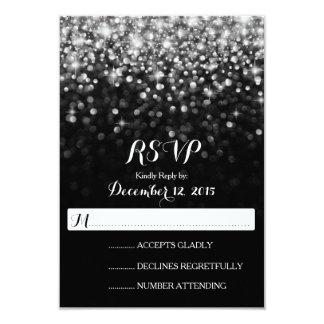 Glitz negro de plata RSVP que se casa atractivo de Invitación 8,9 X 12,7 Cm
