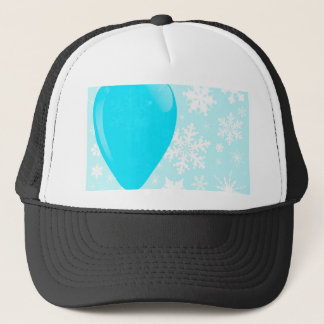 Globo azul del navidad gorra de camionero