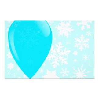 Globo azul del navidad papelería