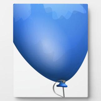 Globo azul placa expositora