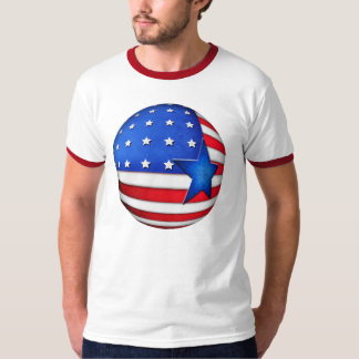 Globo de la bandera 3d de los E.E.U.U. Camisetas