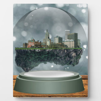 Globo de la nieve de la isla de Providence Placa Expositora