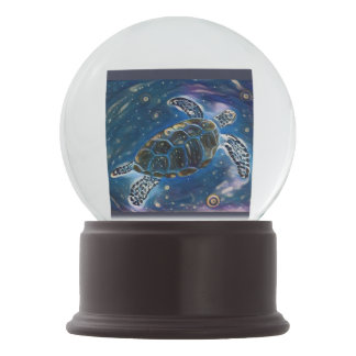 Globo de la nieve de la tortuga de mar
