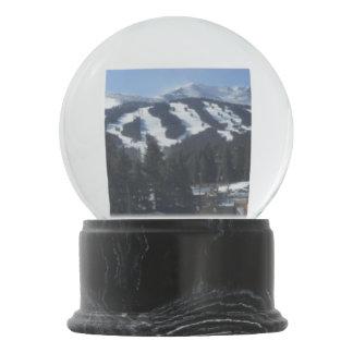 Globo de la nieve del área del esquí de