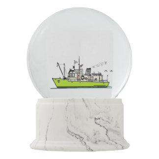 Globo de la nieve del barco