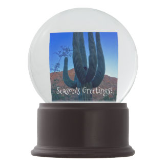 Globo de la nieve del cactus de navidad de Arizona