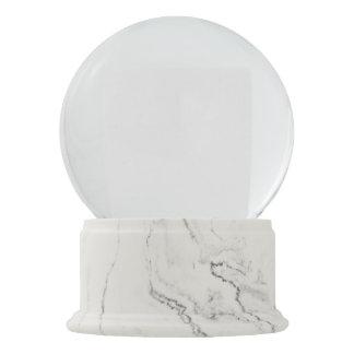 Globo de mármol blanco de la nieve del final