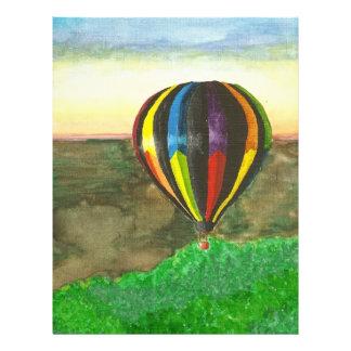 Globo del aire caliente flyer a todo color