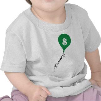 Globo del bolso del dinero camiseta