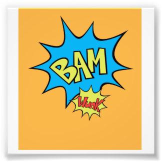 "Globo del cómic ""Bam"" Impresión Fotográfica"