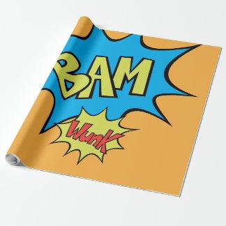 """Globo del cómic """"Bam"""" Papel De Regalo"""