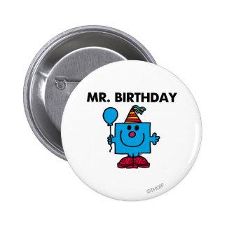 Globo del feliz cumpleaños de Sr. Birthday el | Chapa Redonda 5 Cm