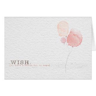 Globo del feliz cumpleaños tarjeta pequeña