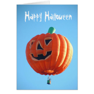 Globo del feliz Halloween Tarjeta De Felicitación