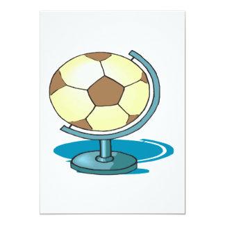 Globo del fútbol invitación 12,7 x 17,8 cm
