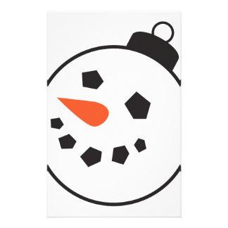 Globo del muñeco de nieve papelería