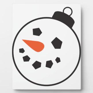 Globo del muñeco de nieve placa expositora