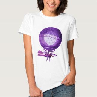 Globo (púrpura) del aire caliente del hidrógeno de camiseta