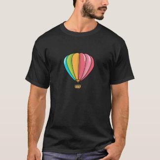 Globo vibrante coloreado del aire caliente camiseta
