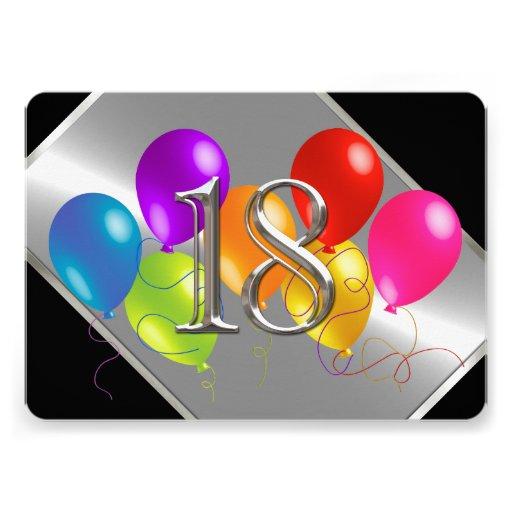 Globos 18 del cumpleaños comunicados personalizados