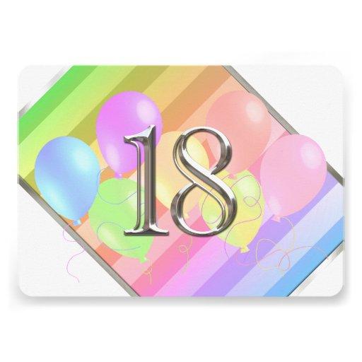 Globos 18 del cumpleaños comunicados