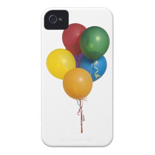 Globos coloreados multi del fiesta iPhone 4 funda