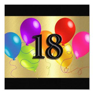 Globos coloridos 18 del cumpleaños