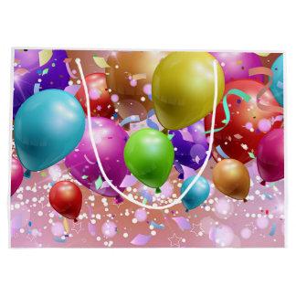 Globos coloridos bolsa de regalo grande