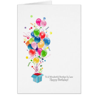 Globos coloridos de las tarjetas de cumpleaños del