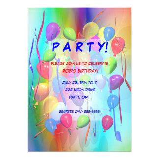 Globos de la celebración de la fiesta de cumpleaño comunicado personalizado